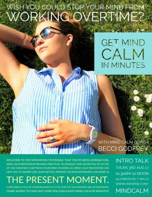 Mind Calm flyer